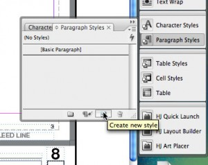 "2. Click on ""New Style"" (the paper icon)"